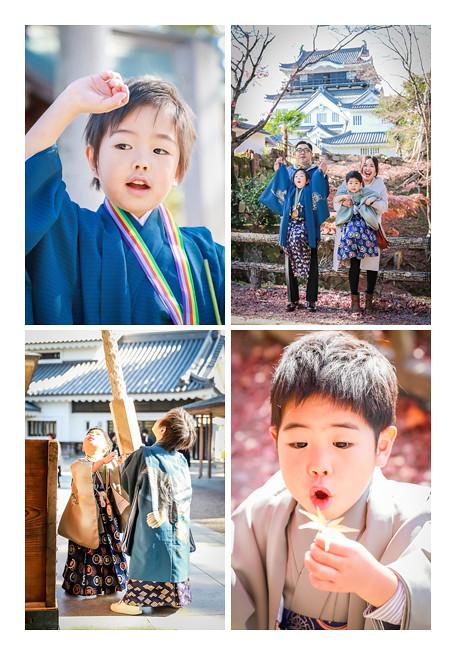 龍城神社で七五三 愛知県岡崎市 家族写真