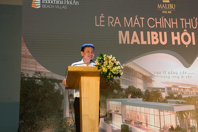 Ông Hồ Nam phát biểu khai mạc lễ ra mắt giới thiệu Malibu Hội An