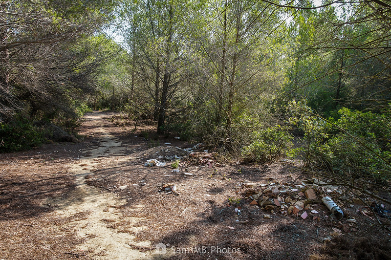 Escombros en el Bosc de La Muga