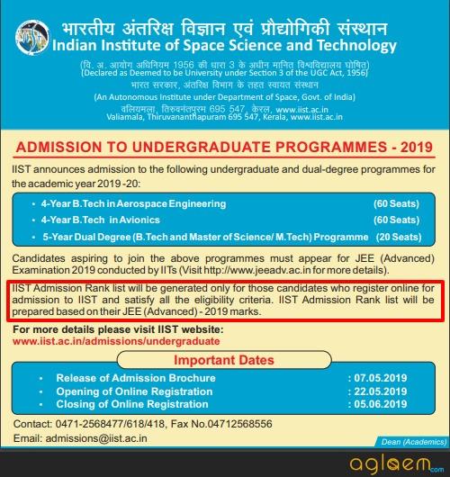 IIST Admission 2019
