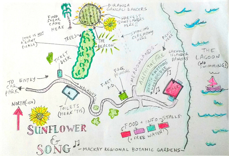 sunflower and song map