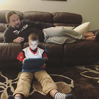 Set up iMessage for family members on the kids iPad. Great practice for Jameson, he's so excited to check his messages! | by auley