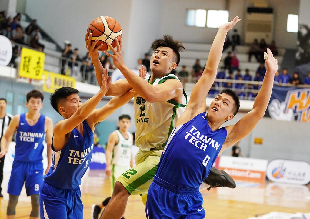 萬能杜譽城得24分11籃板。(大專體總提供)