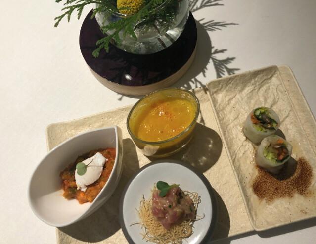 Restaurante ALbora, aperitivos del menú saludable