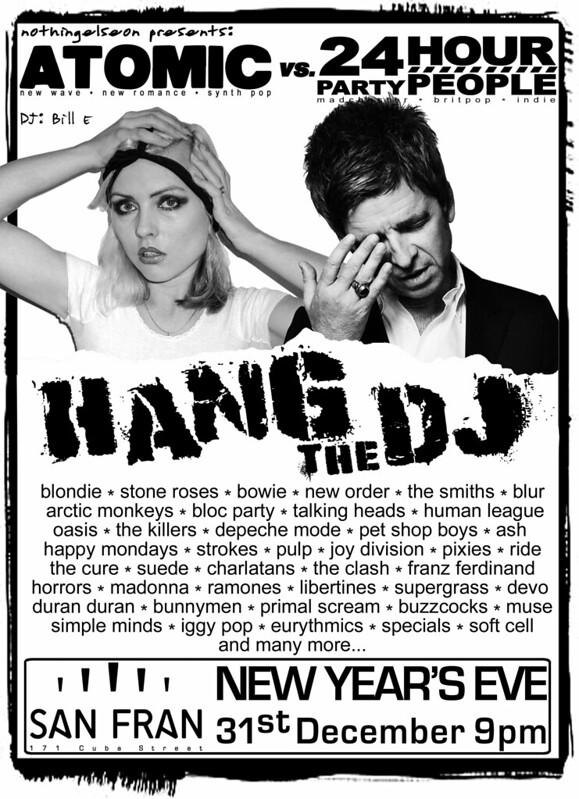 Hang the DJ 2018/19 poster