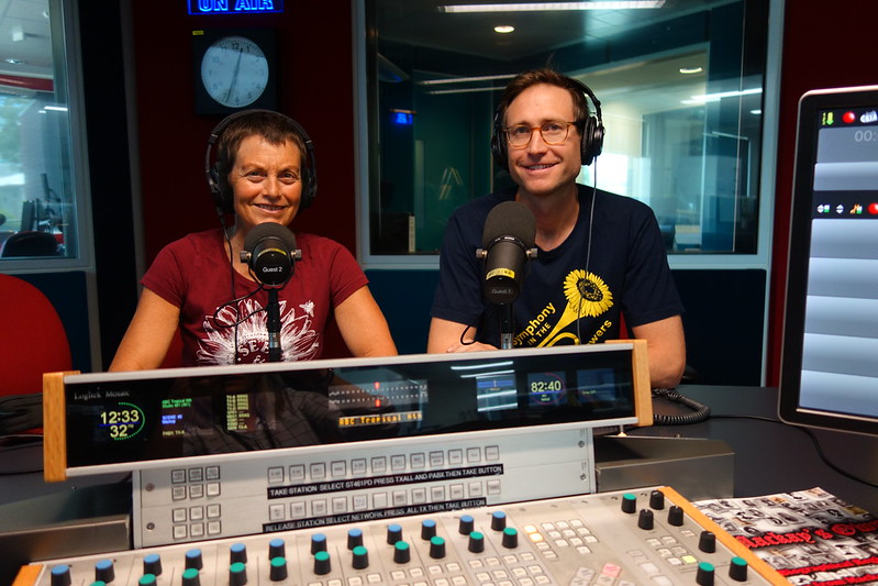Kim and Lucas at ABC Radio