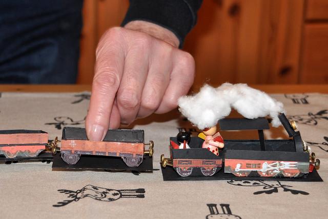 Pralinen-Eisenbahn, Schnapsdrossel-Express, Mon-Chéri-Zug, Engel ... Weihnachten 2018 ... Foto: Brigitte Stolle