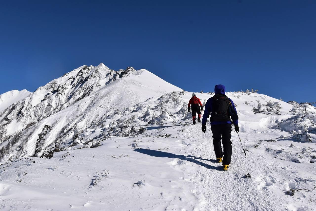 西穂高岳 日帰り雪山登山