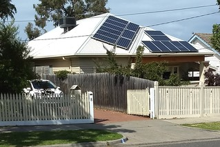 Solar panels on a roof in Bentleigh | by Daniel Bowen
