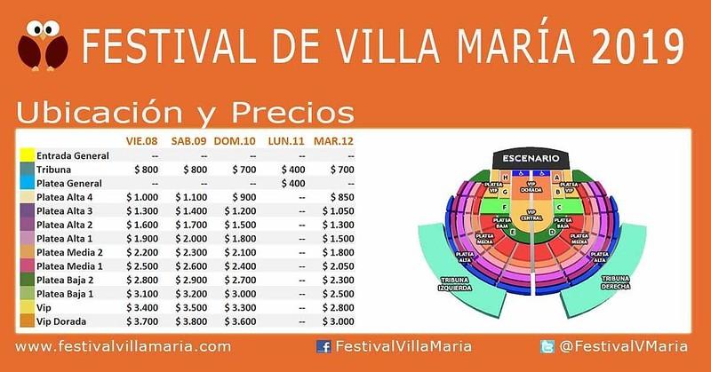 PRECIOS Y UBICACIONES PARA EL FESTIVAL DE PEÑAS 2019