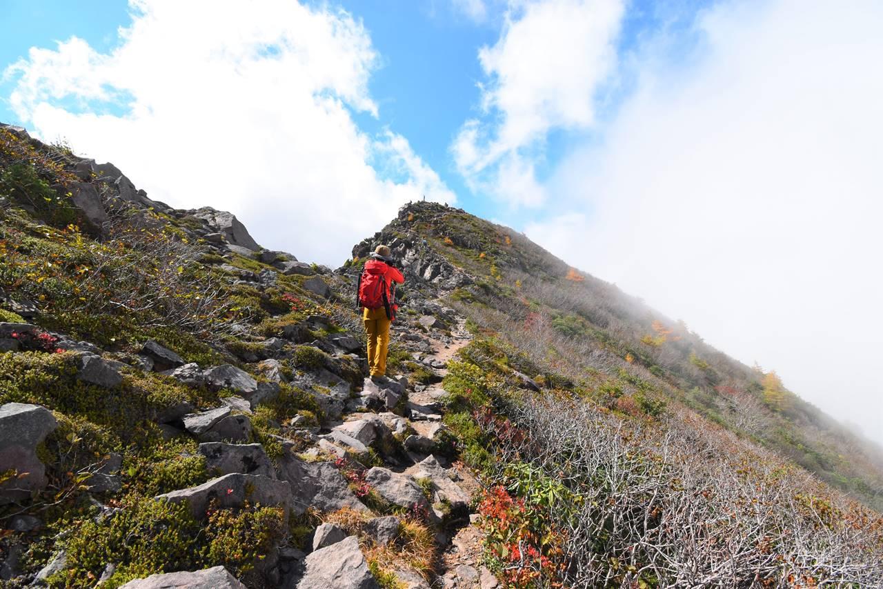 浅間山外輪山の稜線