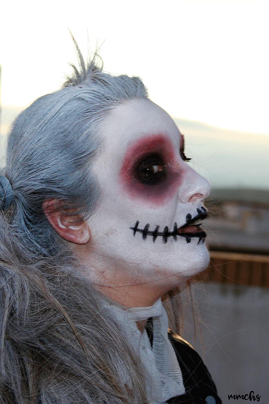 maquillaje mujer casero de momia Halloween