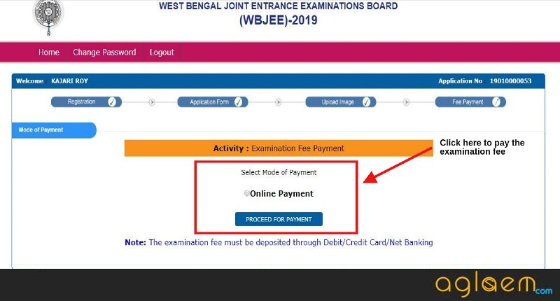 WBJEE Application Fee Payment