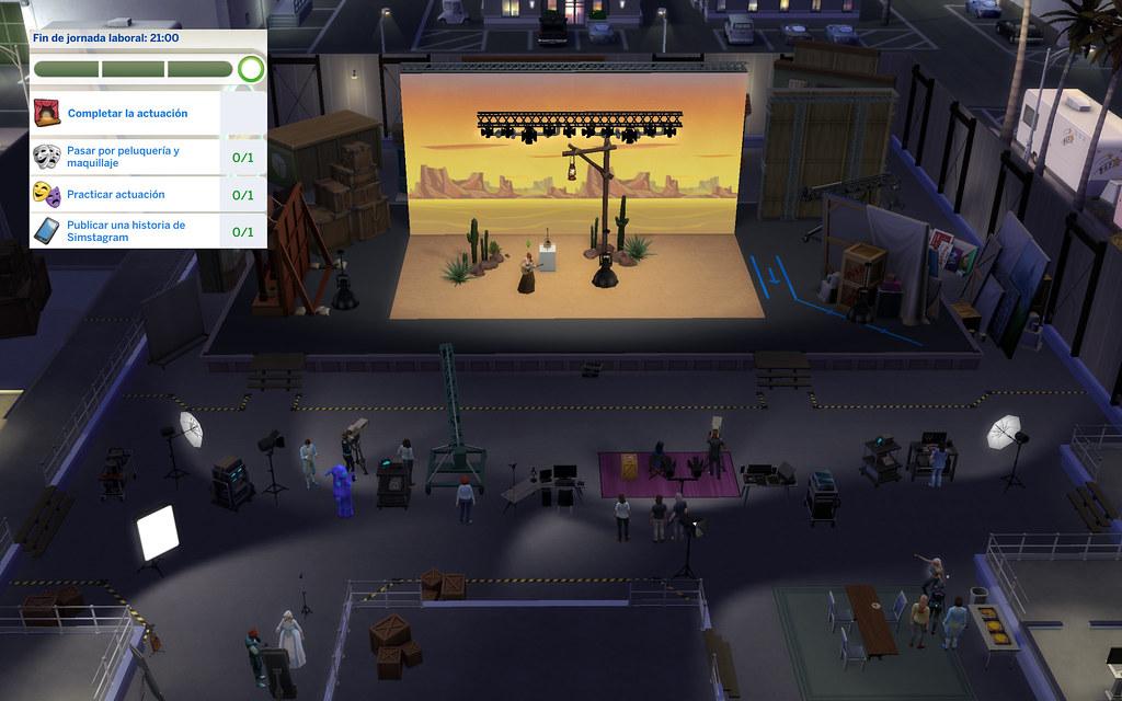 Profesión Actuación en Los Sims 4 - En el Estudio