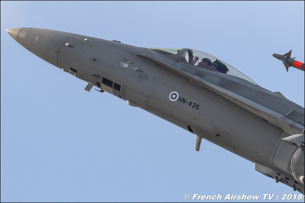 F-18 Hornet : Finnish Air Force Solo Display RIAT 2018 - Royal International Air Tattoo RAF Fairford Royaume-Uni Canon Sigma France contemporary lens Meeting Aerien 2018