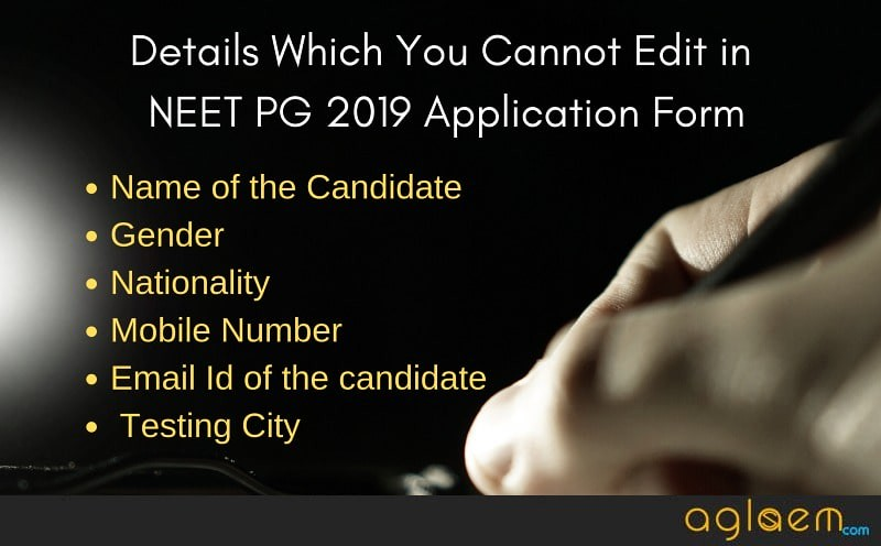 NEET PG 2019 Application Form Correction facility started; Last date to edit details is 26 Dec