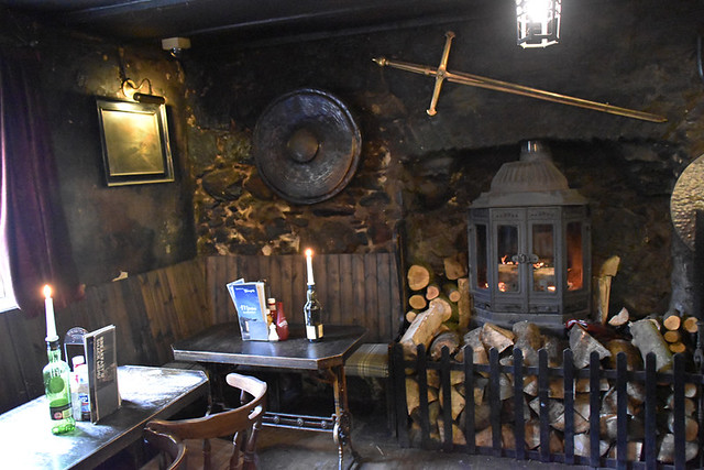 Cosy bar, Drovers Inn, near Crianlarich, Scotland