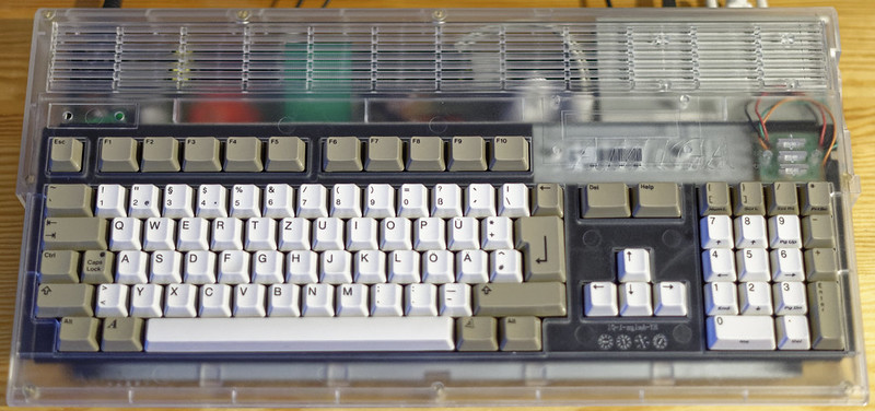 Amiga 1200 in Translucent Case