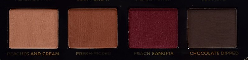 Too Faced Just Peachy Mattes Peaches And Cream, Fresh Picked, Peach Sangria, Chocolate Dipped