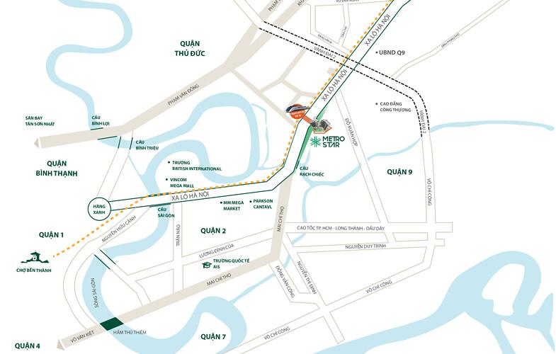 Vị trí đắc địa: Mặt tiền Xa lộ Hà Nội