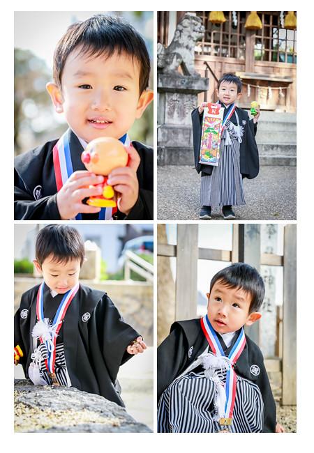 七五三 3歳の男の子 紋付袴