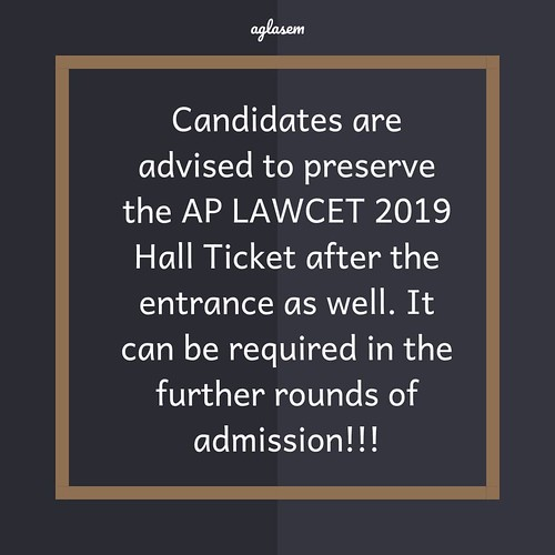AP LAWCET 2019 Admit Card (Released)- Download Hall Ticket Here