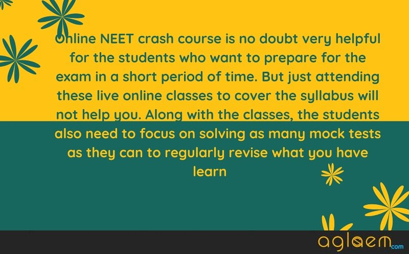 Aakash Crash Course for NEET 2020 (Online) - Fees, Test Series, How to Apply for Crash Course