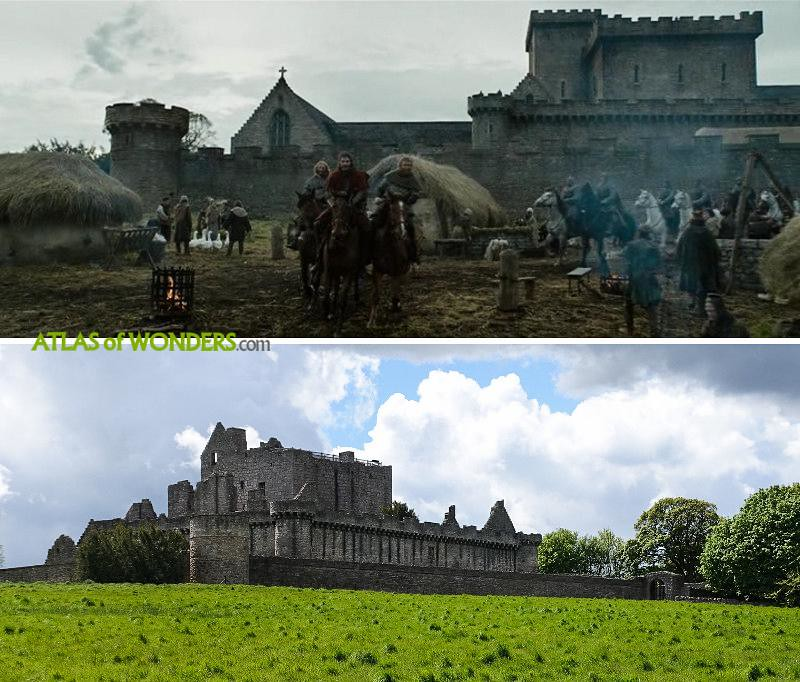 Craigmillar Castle filming Outlaw King