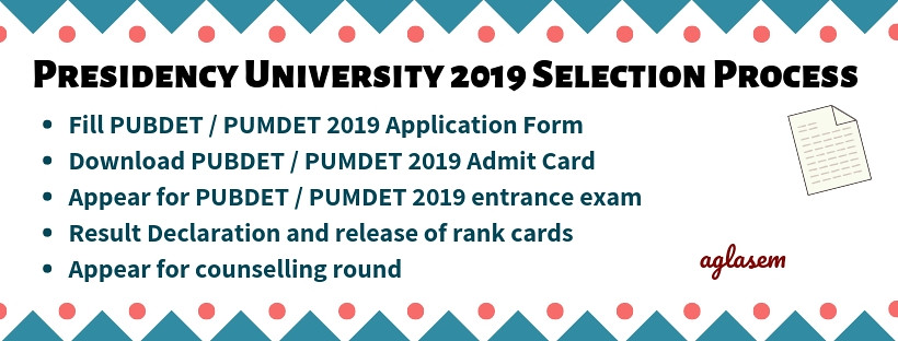 Presidency University Admission 2019 (PUBDET / PUMDET)