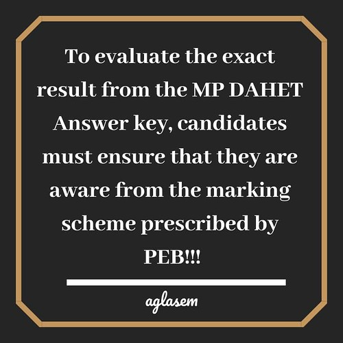 MP DAHET 2020 Answer Key: Download Here!