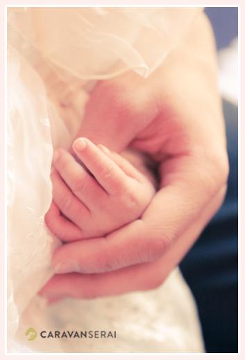 赤ちゃんのお手て ベビードレス