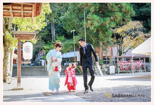 七五三 大縣神社(愛知県犬山市) 家族写真