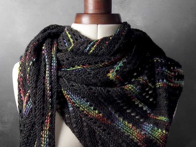 Brockwell Park shawl in 'ZX'