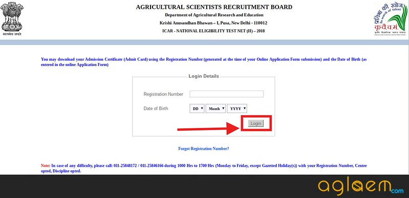 ASRB NET Admit Card 2018