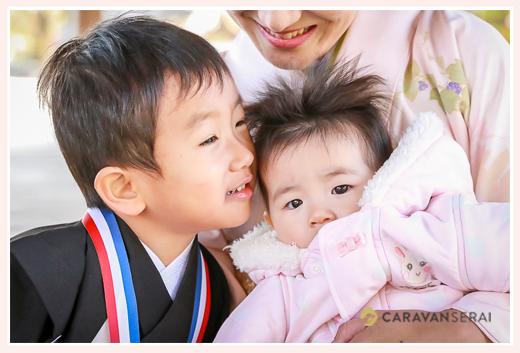 七五三 3歳の男の子 と妹