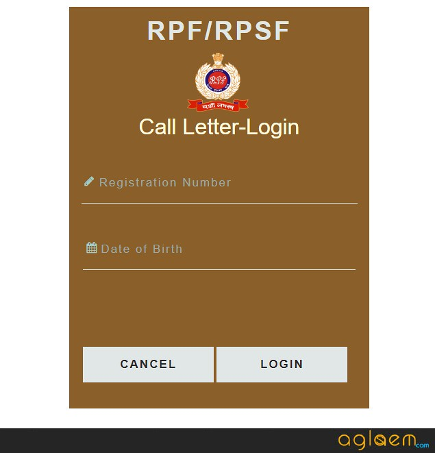 RPF SI Admit Card 2018