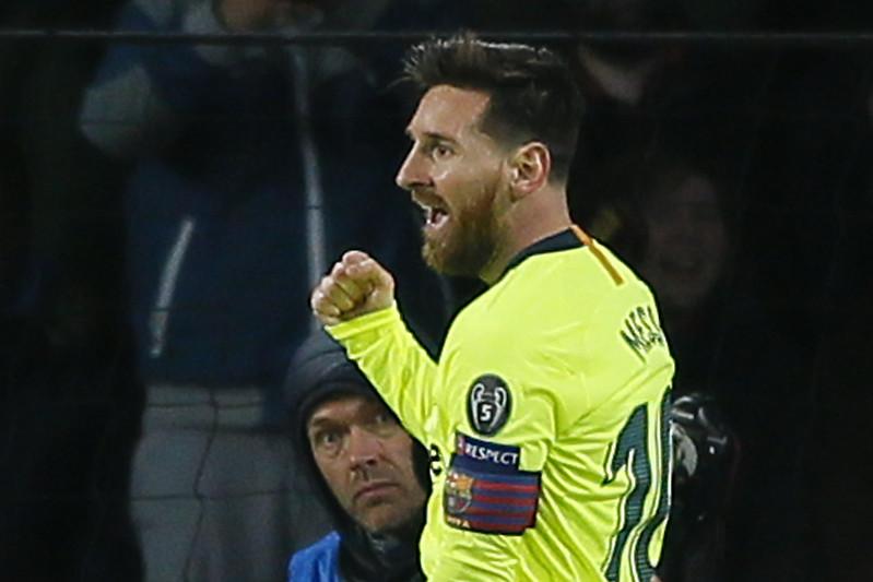 Lionel Messi幫助巴塞隆納闖進歐冠聯賽16強。(達志影像)