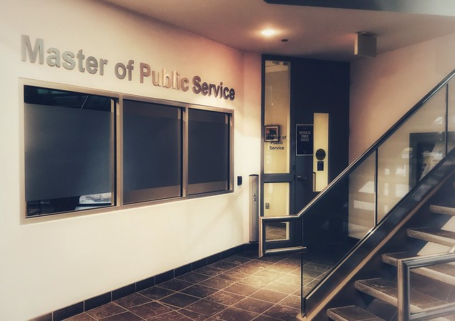 Entrance of Master of Public Service program wing at the University of Waterloo