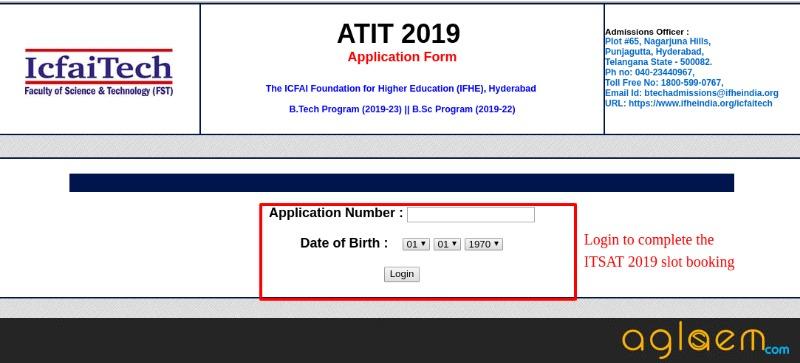 ATIT 2019 Slot Booking
