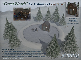 "@ Boardwalk Event | [CIRCA] - ""Great North"" - Ice Fishing Set - In Redwood 