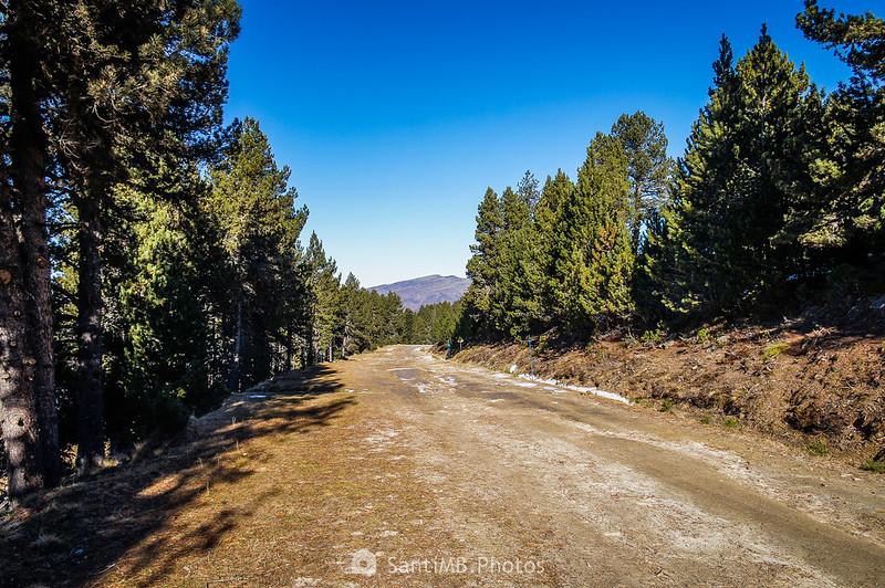 Bajando por la pista Pastorale de Plateau de Beille
