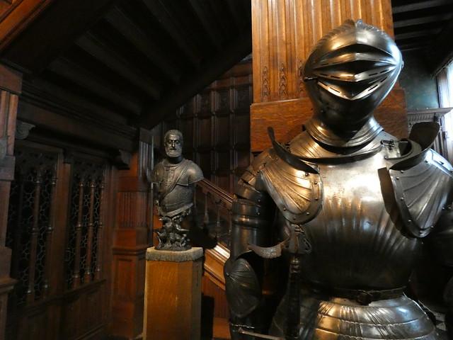 Interior del castillo de Gaasbeek en el Brabante Flamenco (Flandes, Bélgica)