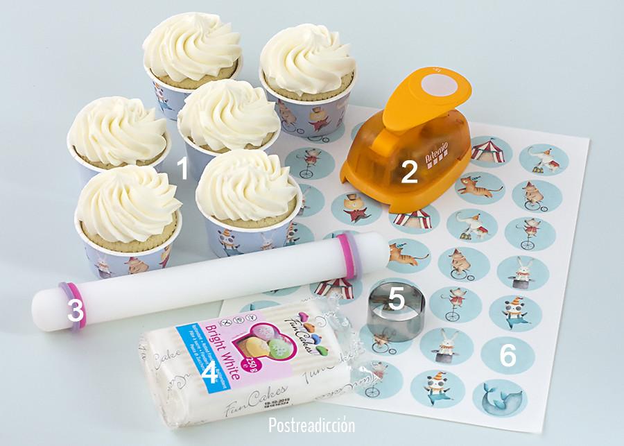 cupcakes con obleas