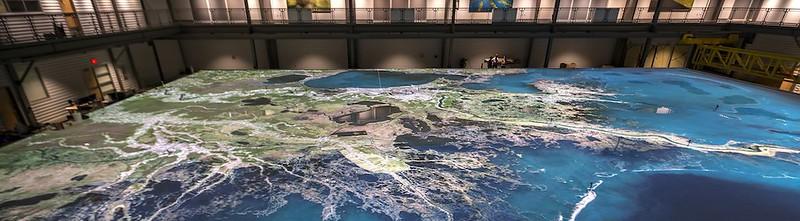 密西西比河下游三角洲模型