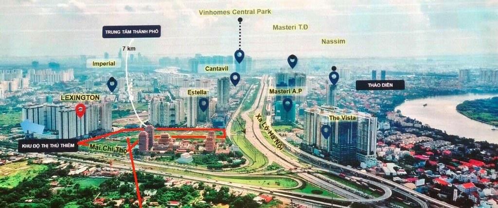 Dự án liền kề các khu dân cư cao cấp và sầm uất với đầy đủ tiện ích lân cận