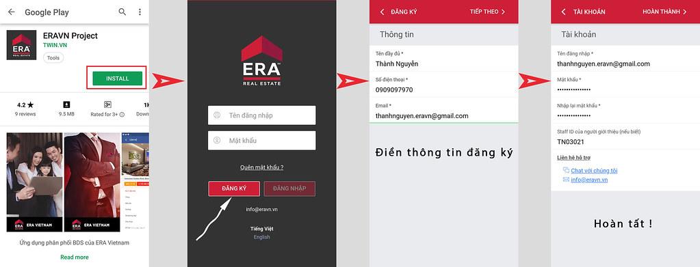 Hướng dẫn cài đặt ERAvn Project app