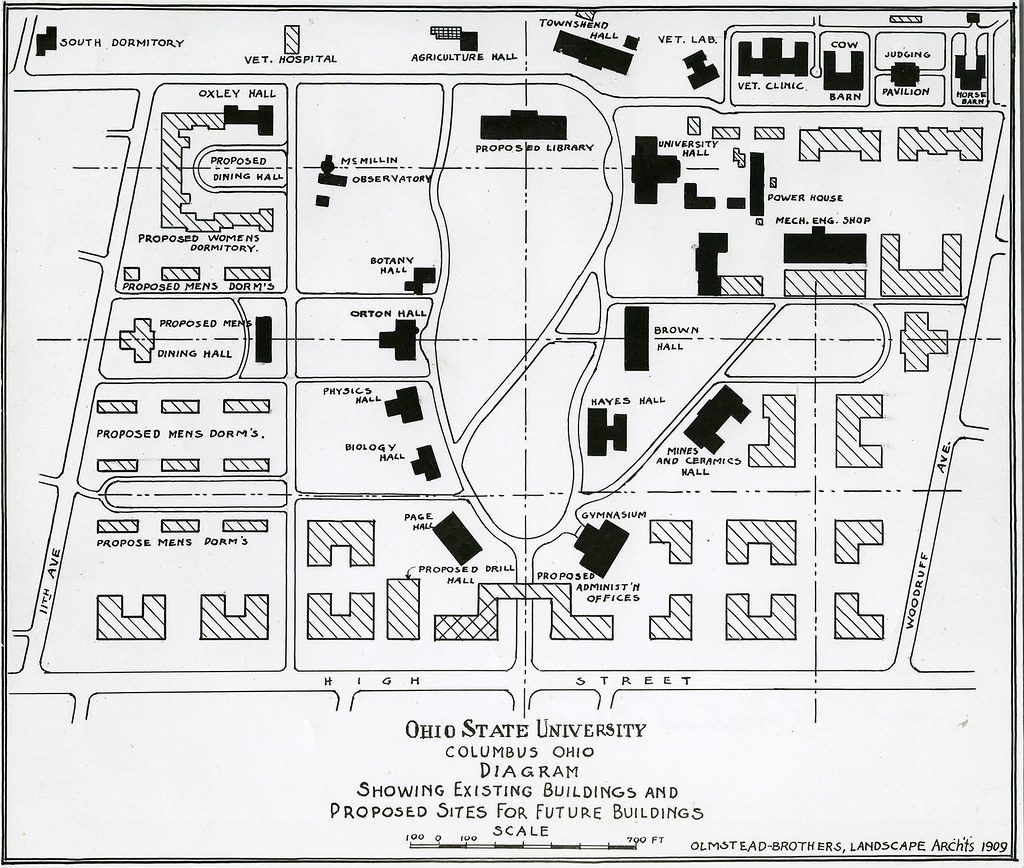 1909 Campus Map Olmstead Brothers 1909 Campus Map The Ohio