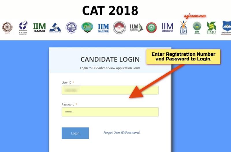 CAT 2018 Login Sample