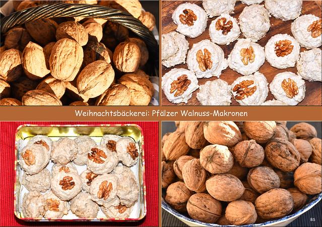 Weihnachtsbäckerei 2018 --- Pfälzer Walnuss-Makronen --- Foto: Brigitte Stolle