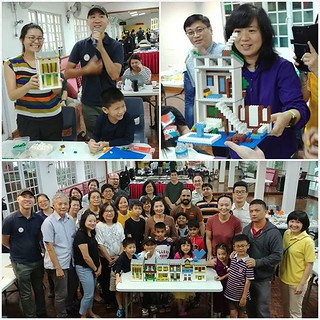 Crazy Brick Asians! The folks from @pafrenz Brick Art Interest Group have some brick-building fun in a #workshop with @artisanbricks, where they build their very own dream #shophouse and jazz it up any way they want. Impressive work with simple bricks and | by www.artisanbricks.com